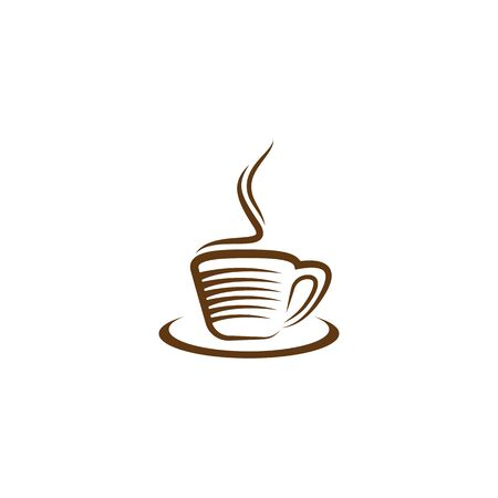 Coffee cup  template vector icon design