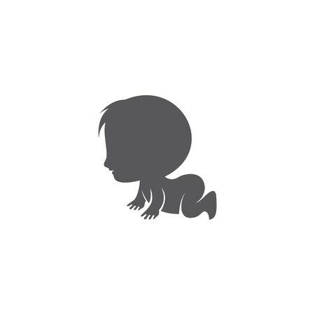 Baby vector icon illustration Ilustración de vector