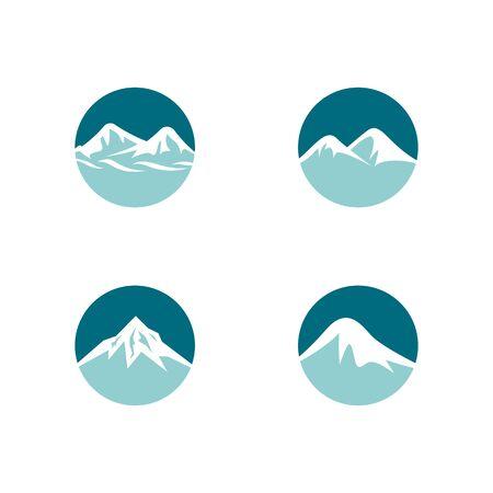 Mountain  template vector icon illustration design