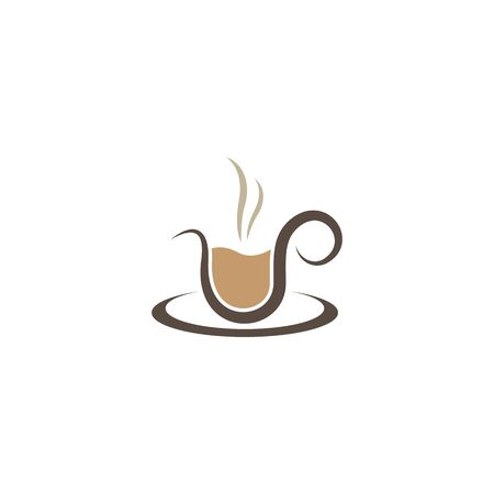 Coffee cup logo template vector icon design Ilustração