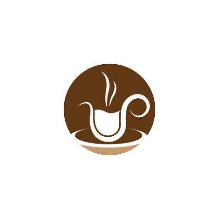 Coffee cup logo template vector icon design Illustration