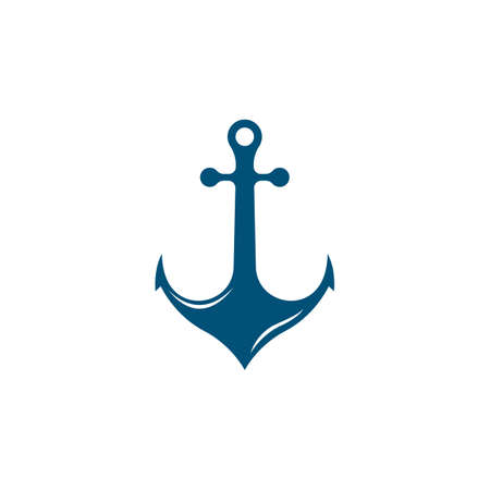 Anchor logo template vector icon illustration design Illustration