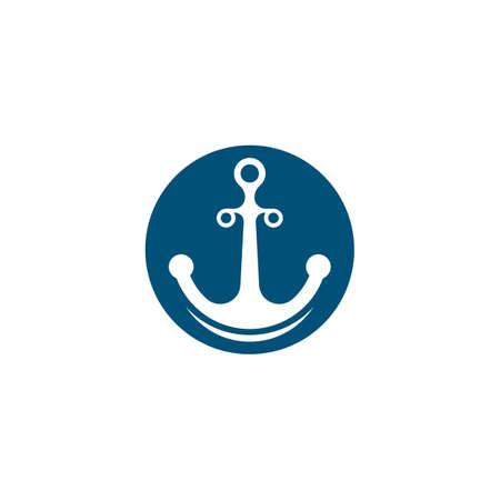 Anchor logo template vector icon illustration design Stock Illustratie
