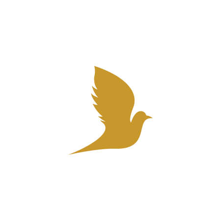 Dove logo template vector icon illustration design