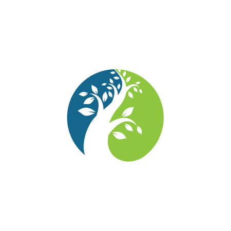 Tree logo template vector icon illustration design Ilustracja