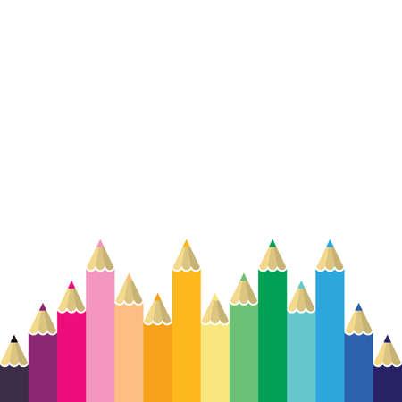 Color pencil vector illustration design