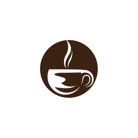 Coffee cup logo template vector icon design Illustration