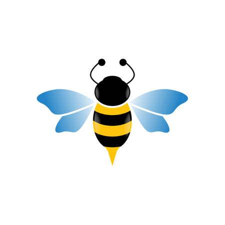 Bee vector icon illustration design