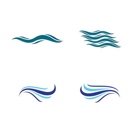 Water wave logo vector icon illustration design Ilustrace