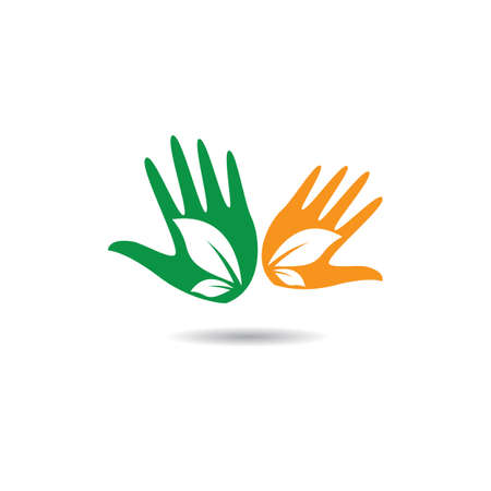 Hand care logo template vector icon illustration