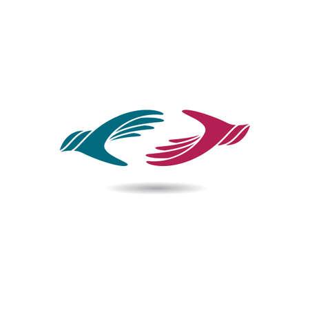 Hand care logo template vector icon illustration