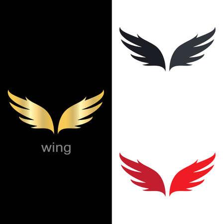 Wing logo template symbol icon illustration design