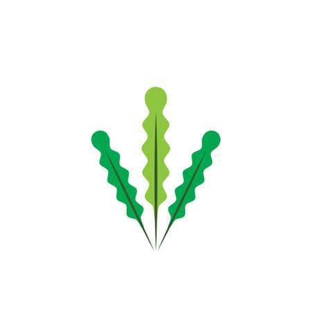 Seaweed logo template vector icon illustration design