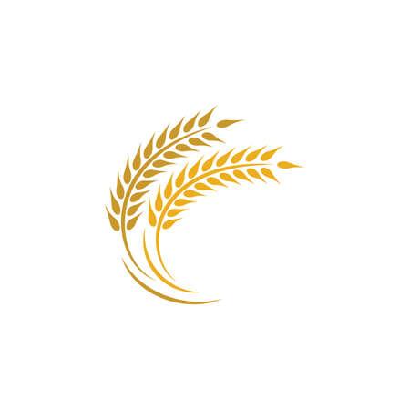 Agriculture wheat logo template vector icon design Logos