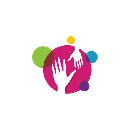Hand care template icon illustration design