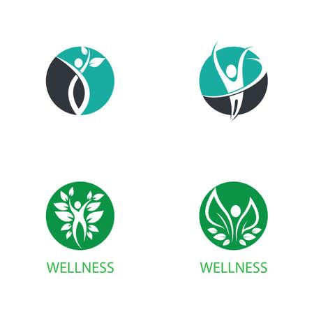 Wellnes logo template vector icon Logos