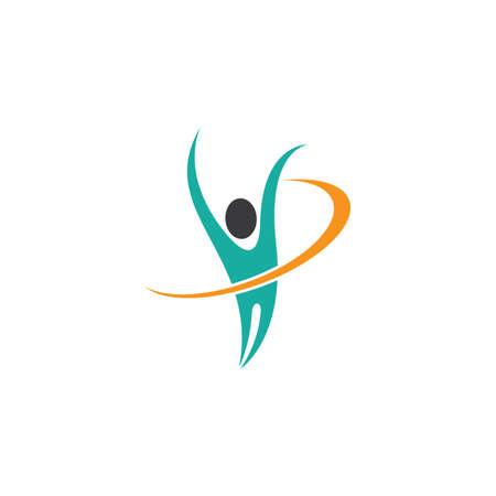 Wellnes logo template vector icon