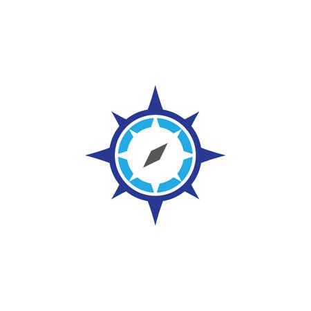 Compass logo template vector icon illustration