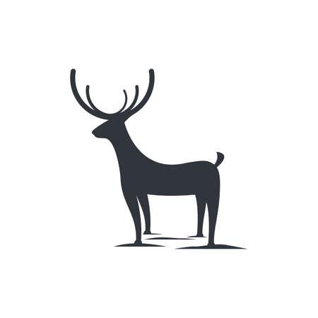 Deer logo vector illustraation design