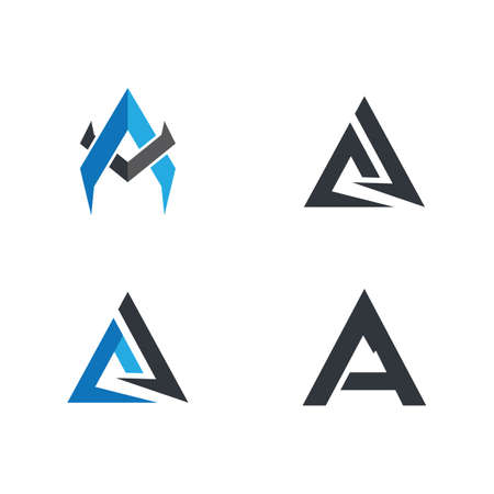 Letter a logo template illustration design