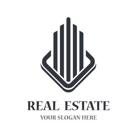 Real estate logo vector icon illustratrion Logo