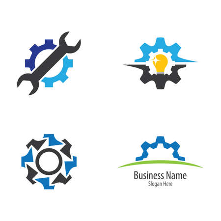 Gear logo vector icon illustration