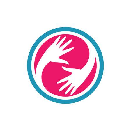 Hand care logo vector icon illustration 向量圖像
