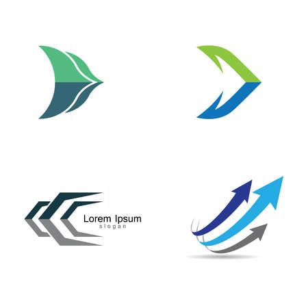 Arrow logo vector icon illustration