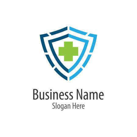Medical cross logo vector icon illustration design