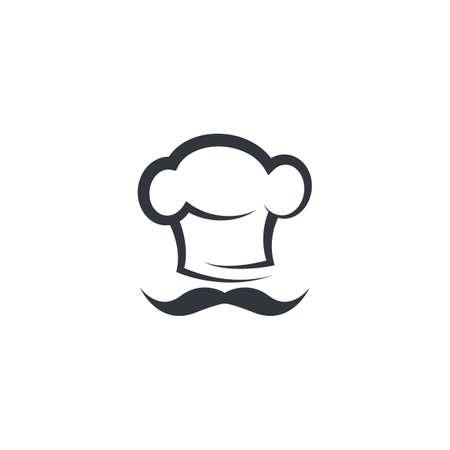 Chef  logo vector icon illustration design Illusztráció