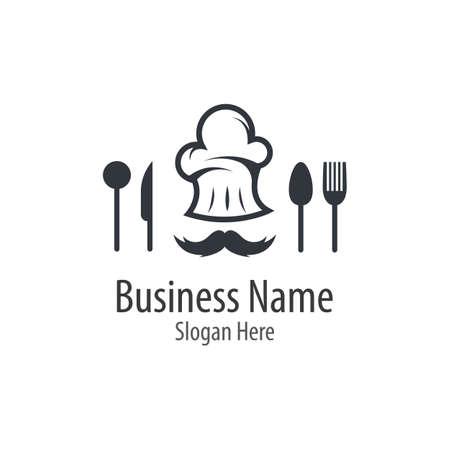 Chef  logo vector icon illustration design Stock fotó - 155007217
