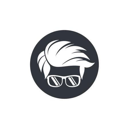 Geek logo template vector icon illustration