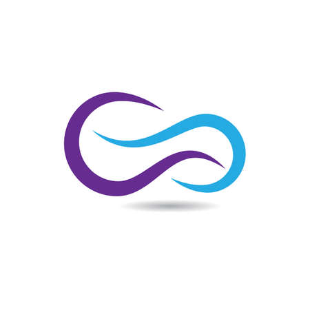 Infinity logo vector icon illustration design