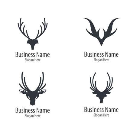 Deer head icon illustraation design