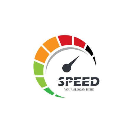 Speedometer icon logo vector illustration Logo