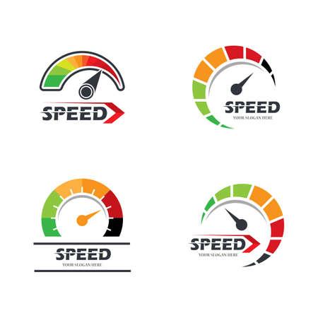 Speedometer icon logo vector illustration