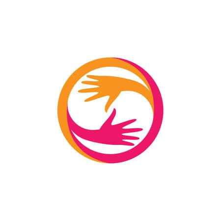 Hand care logo creative vector icon illustration