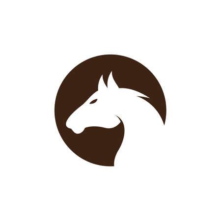 Horse logo creative vector icon illustration design