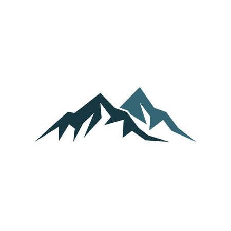 Mountain logo vector icon illustration design