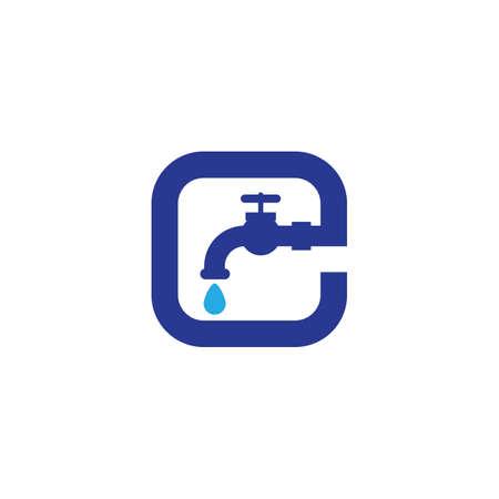 Plumbing icon logo creative vector illustration Vettoriali
