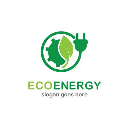 Eco energy icon logo creative vector illustration Logo