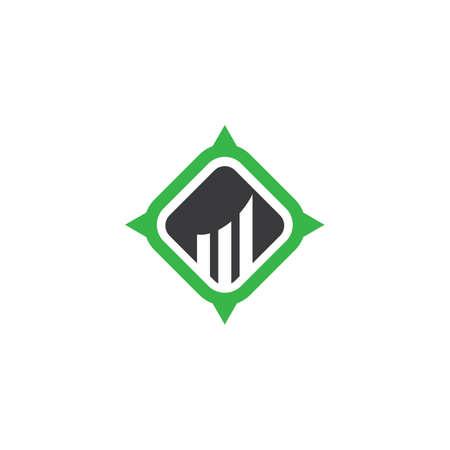 Financial business icon logo creative vector illustration