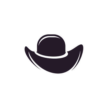 Hat sherif icon logo creative illustration