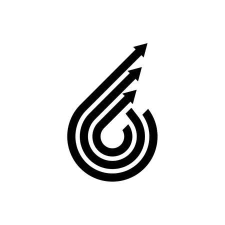 Arrow logo template vector icon design