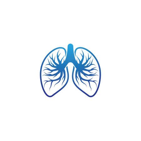 Lung logo template vector icon design