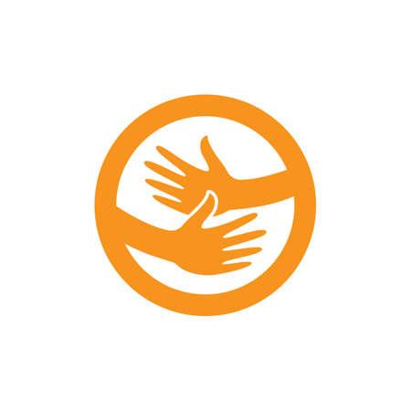 Hand logo template  vector icon design