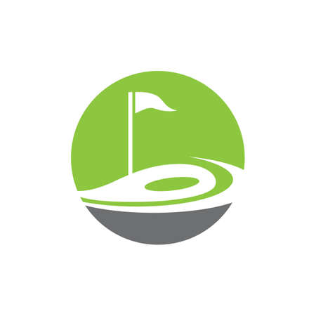Golf  template vector icon design