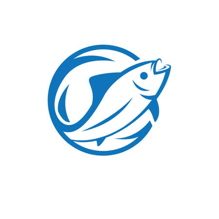 Fish logo template icon vector illustration design