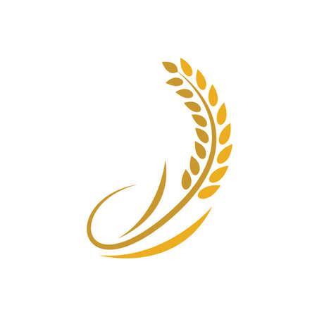 Wheat logo vector icon design