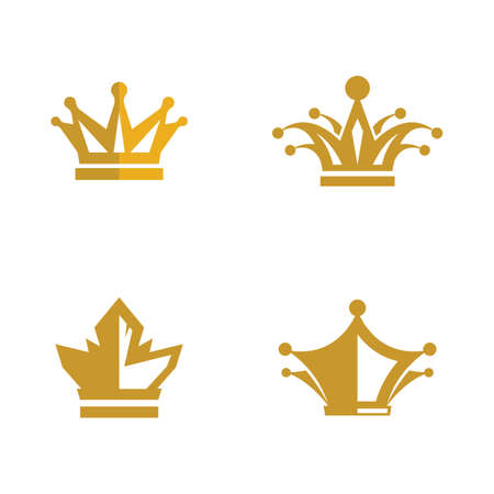 Crown logo template vector icon illustration
